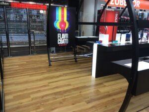 retail flooring by Premier Flooring at Beats store