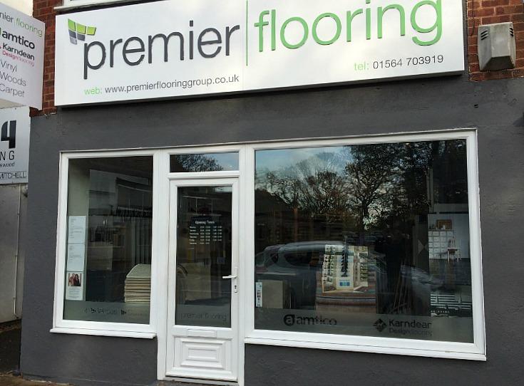 Premier flooring showroom in Solihull