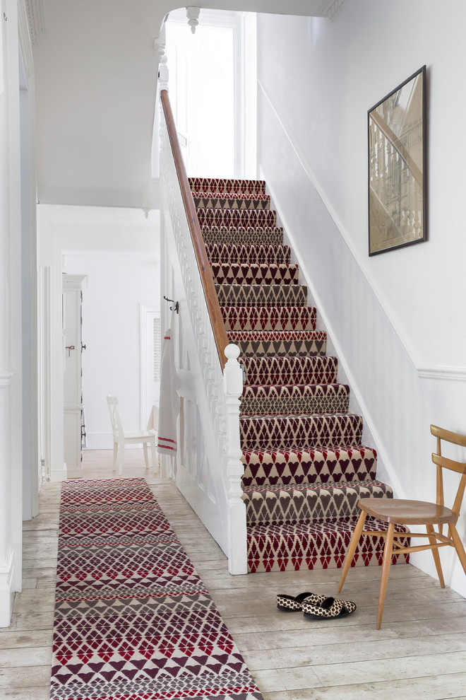 Geometric-carpet-staircase-traditional-with-patterned-carpet-stair-runner-patterned-carpet